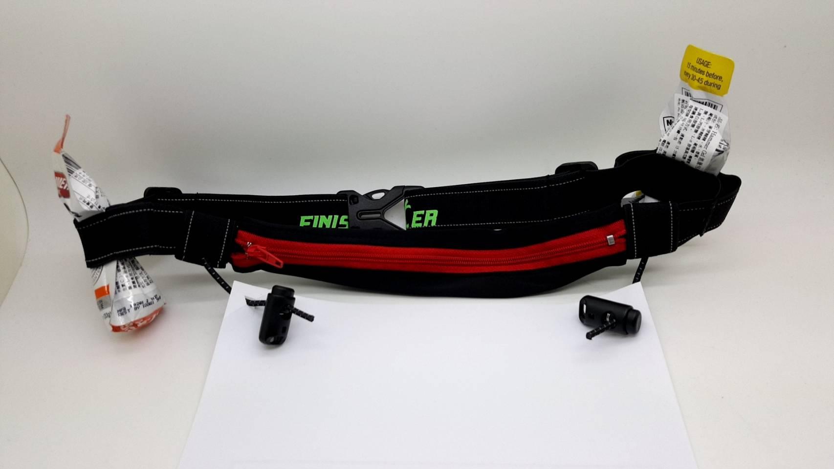 FINISHER 多功腰包 號碼布 6個能量膠固定環 伸縮口袋 反光 安全大提昇 適65-100公分腰圍