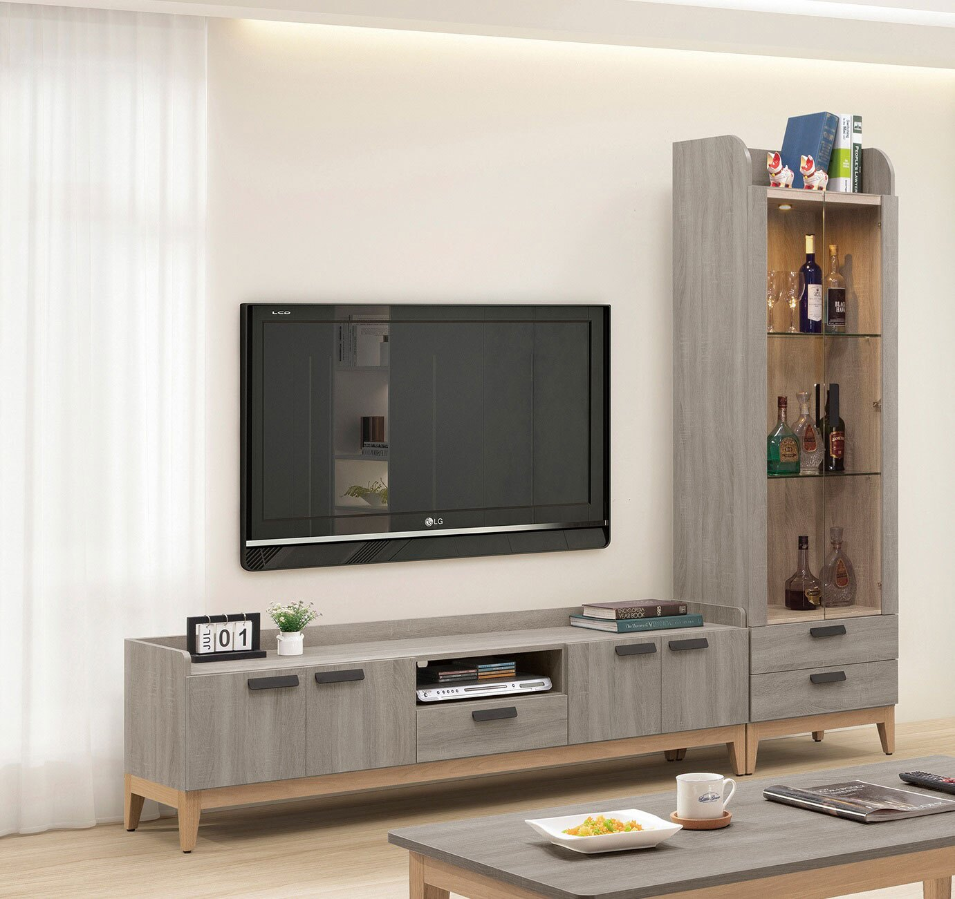 簡單家具,W356-2 天路6尺電視櫃(另售2尺展示櫃),大台北都會區免運費