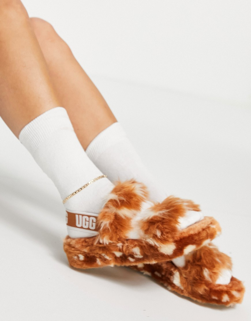 UGG Oh Yeah Spots slippers in natural-Brown