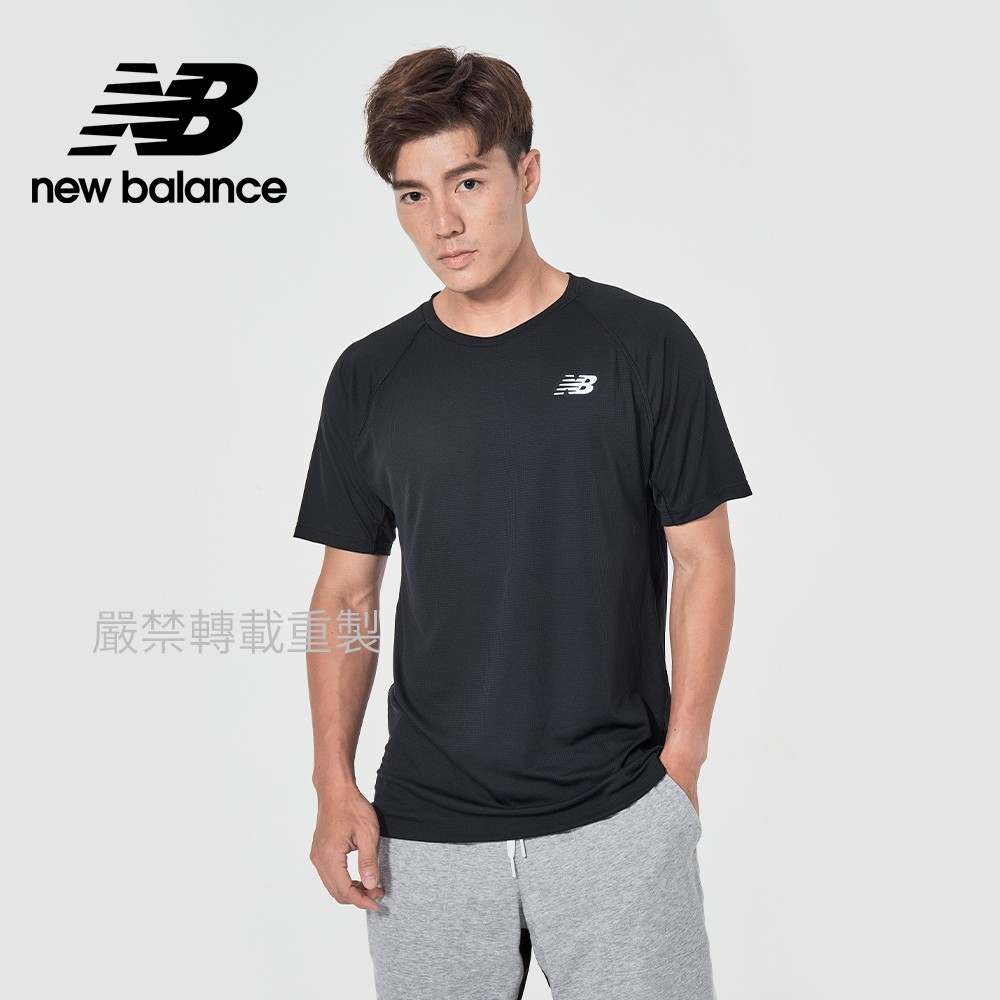 【New Balance】DRY短袖T_男性_黑色_MT11015BK