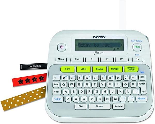 【美國代購】兄弟P-Touch PTD210 易於使用的標籤製作器 一鍵式鍵 多種字體樣式 27個用戶模板 白色