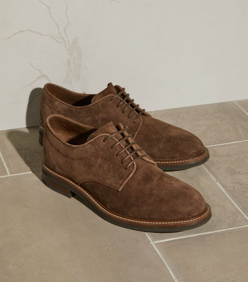 Brunello Cucinelli Suede Oxford Shoes