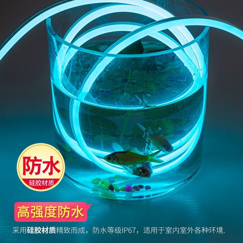 led燈帶條12V夜市霓虹燈帶魚缸機箱廣告字柔性防水低壓硅膠軟燈帶