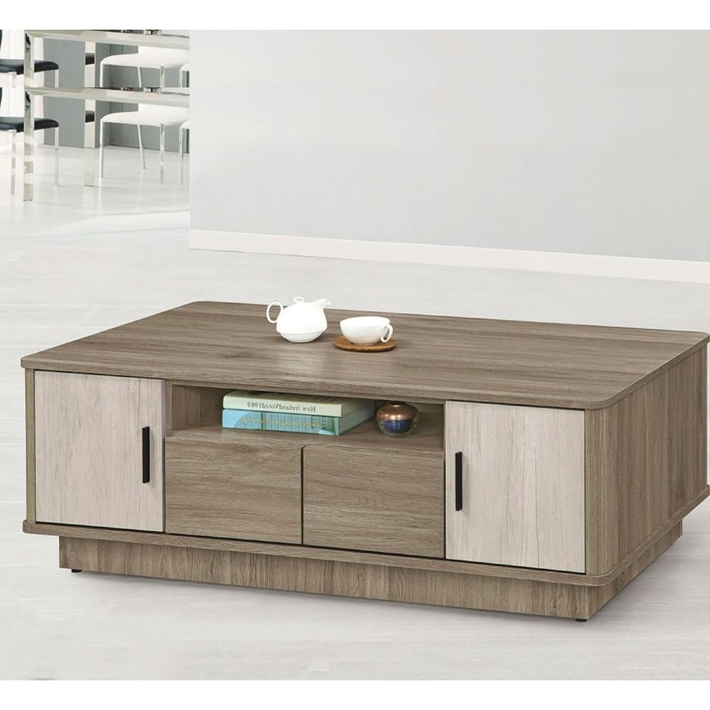 127cm大茶几-k17-5404實木原木玻璃 大理石長方桌 大小邊几 圓桌  金滿屋