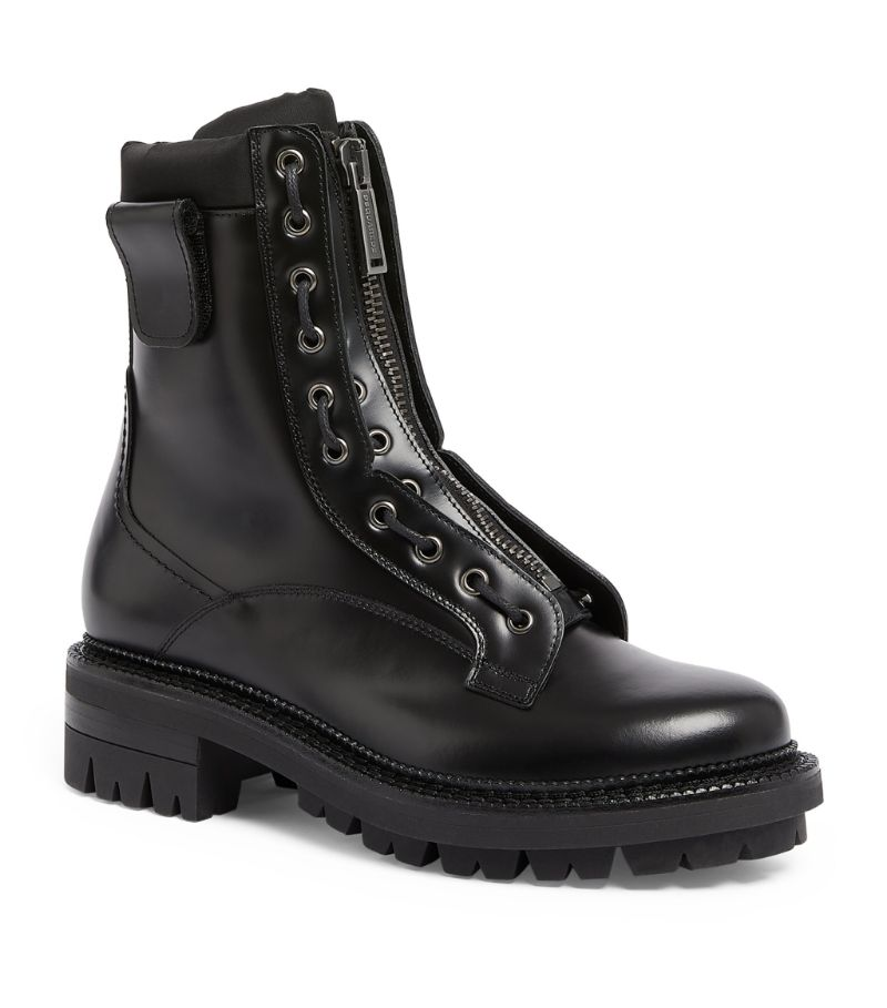 Dsquared2 Leather Military Boots