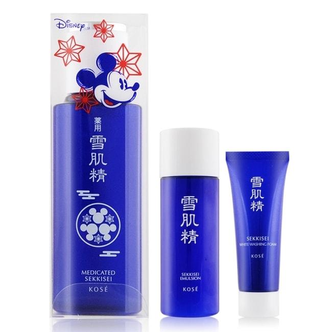 KOSE 高絲 雪肌精保養清潔組[雪肌精100ml+乳液33ML+洗顏霜25g]米妮