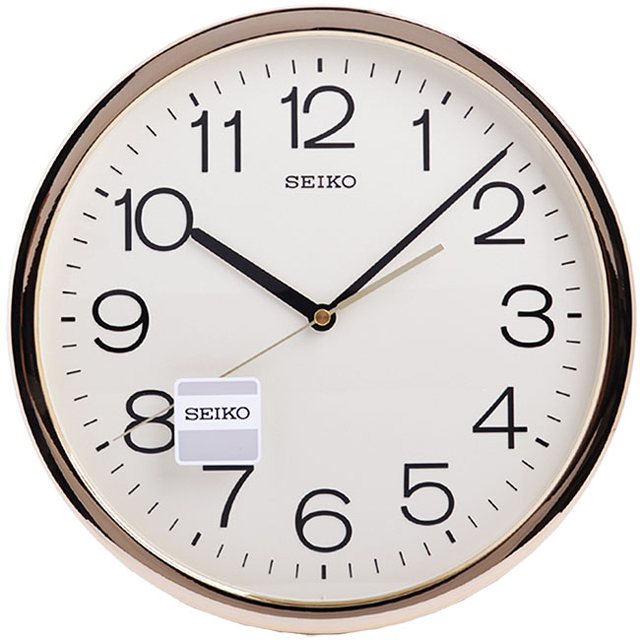 【SEIKO】金色光感外框 時鐘 掛鐘(QXA020A)