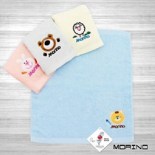 MORINO 素色貼布繡方巾(藍) [大買家]