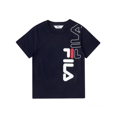 FILA KIDS 圓領上衣-丈青 1TEV-4502-NV