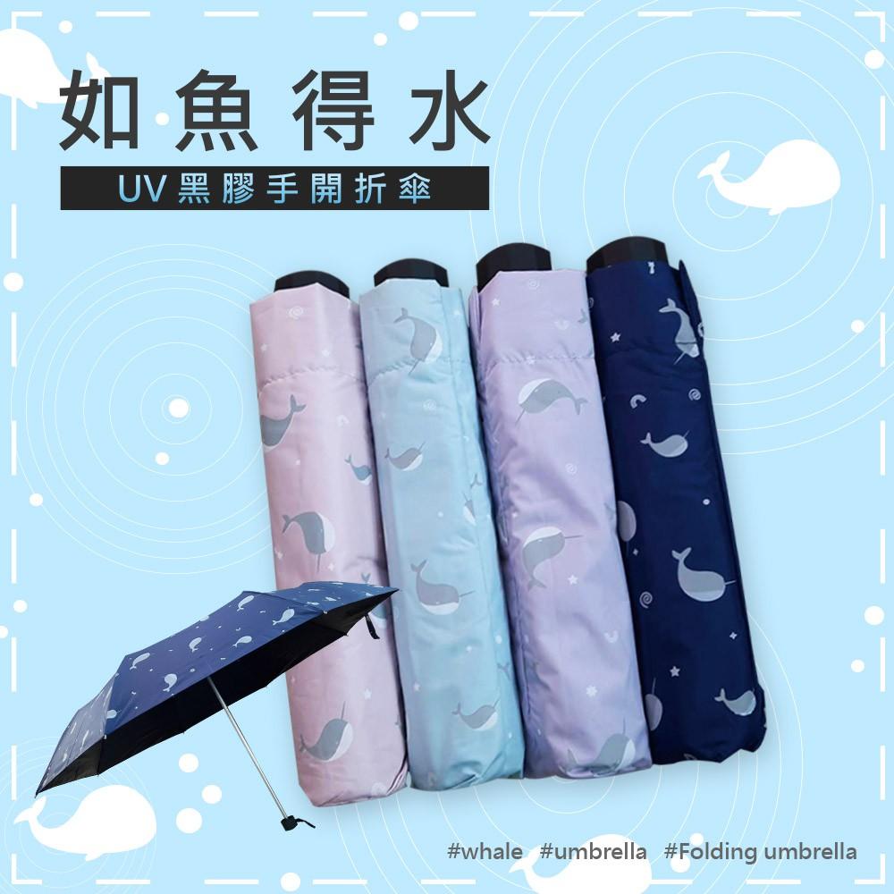 《如魚得水》UV降溫黑膠傘