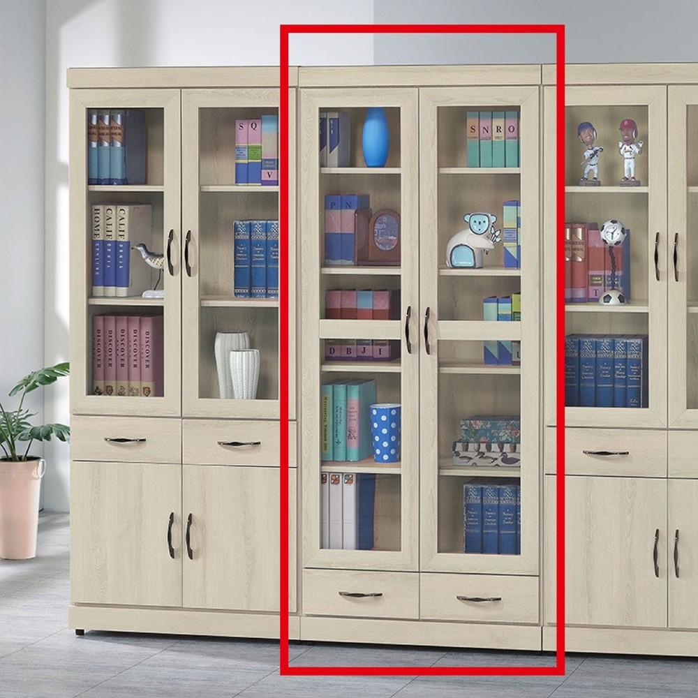 80cm下抽書櫃-k24-8821北歐工業 置物櫃 玻璃實木 書房書櫃書架 櫥櫃 層架收納整理 金