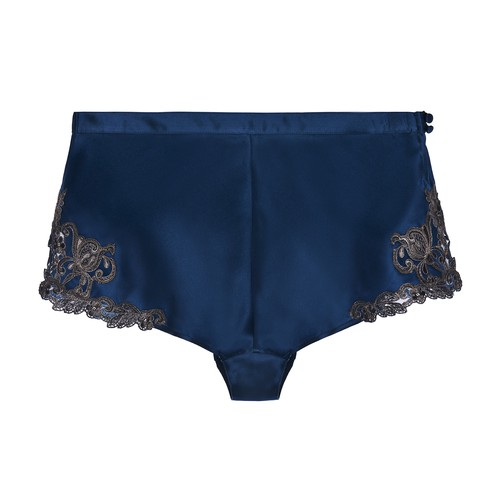 Silk Sleep Shorts with Frastaglio