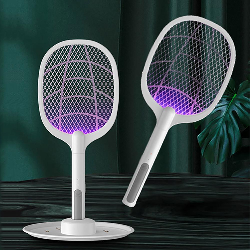 二合一附盤捕蚊電蚊拍