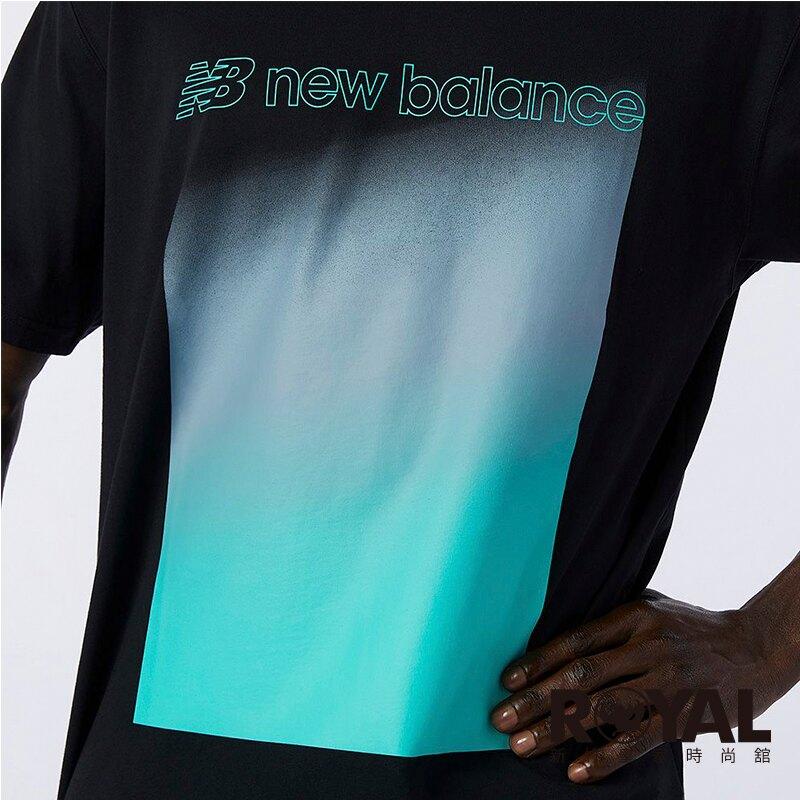 New balance 黑色 棉質 雙色漸層 短袖 上衣 男女款 NO.H3337【新竹皇家AMT11536BK】