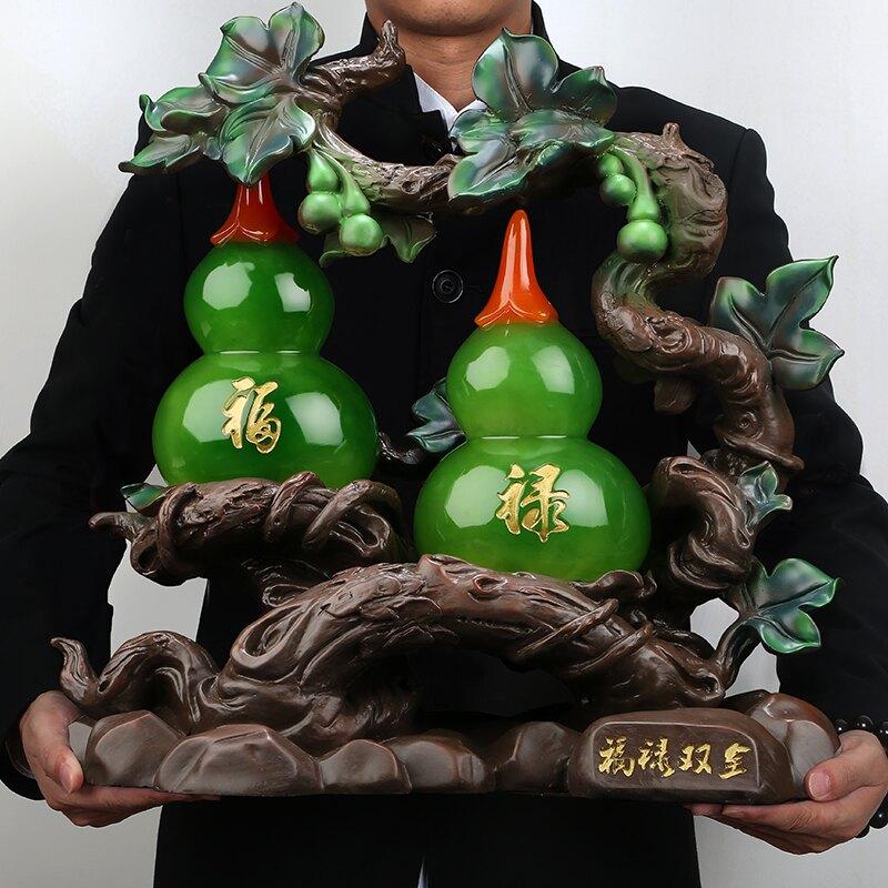 葫蘆招財擺件 酒櫃客廳家居工藝品喬遷開業禮品JSY1 愛尚優品