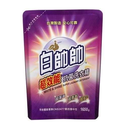 白帥帥 超效能抗菌洗衣精補充包(1650g/包) [大買家]