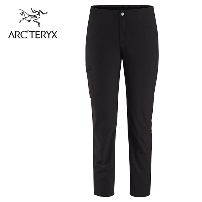 【ARCTERYX 始祖鳥 加拿大】Alroy 休閒長褲 登山褲 健行運動褲 女款 黑色 (L07520100)