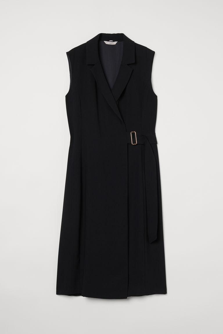 H & M - 外套式洋裝 - 黑色