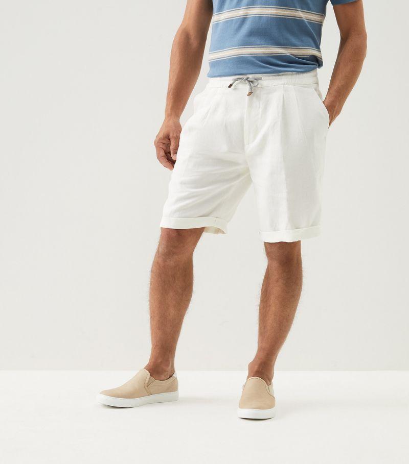Brunello Cucinelli Linen Drawstring Shorts