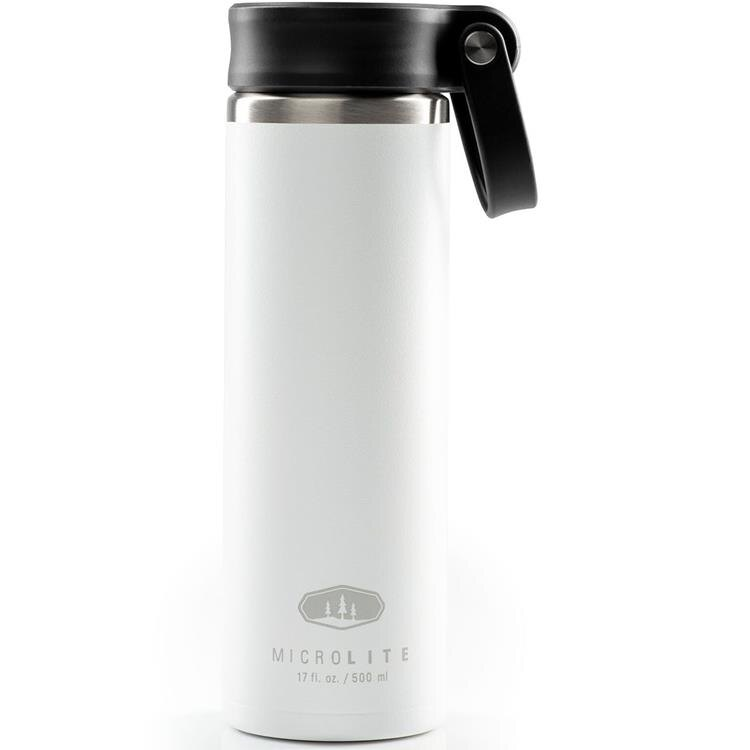 GSI MicroLite 500 Twist 輕量不銹鋼真空保溫瓶 0.5L 67189 白