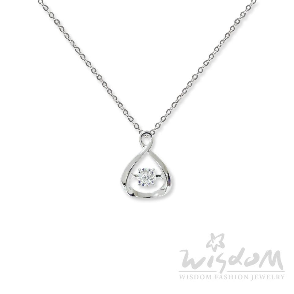 威世登 許願-鑽石項鍊 足成色18K金鑲製 -DB01955-BDFXX