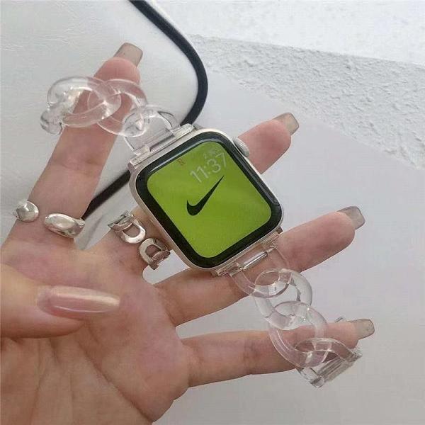最新款樹脂錶帶 適用於Apple Watch 6 5 4 3 SE 蘋果手錶帶38 40 42 44mm 高端休閒錶鏈