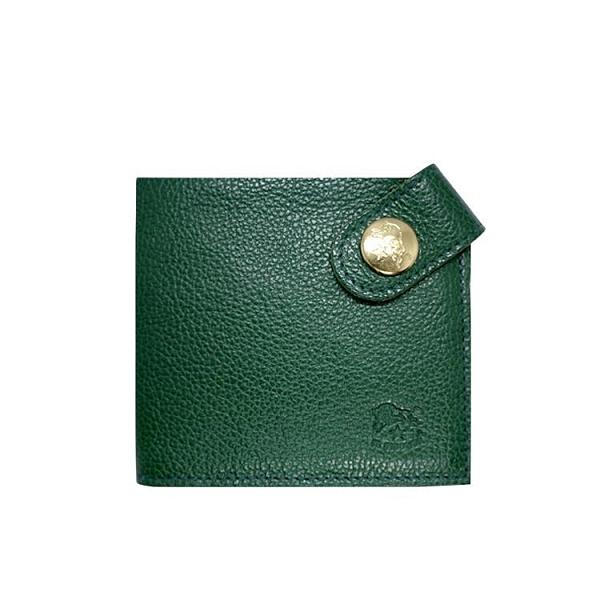 【南紡購物中心】【IL BISONTE】銅扣短夾