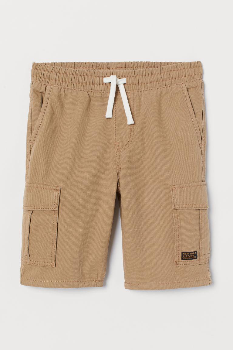 H & M - 棉質短褲 - 米黃色