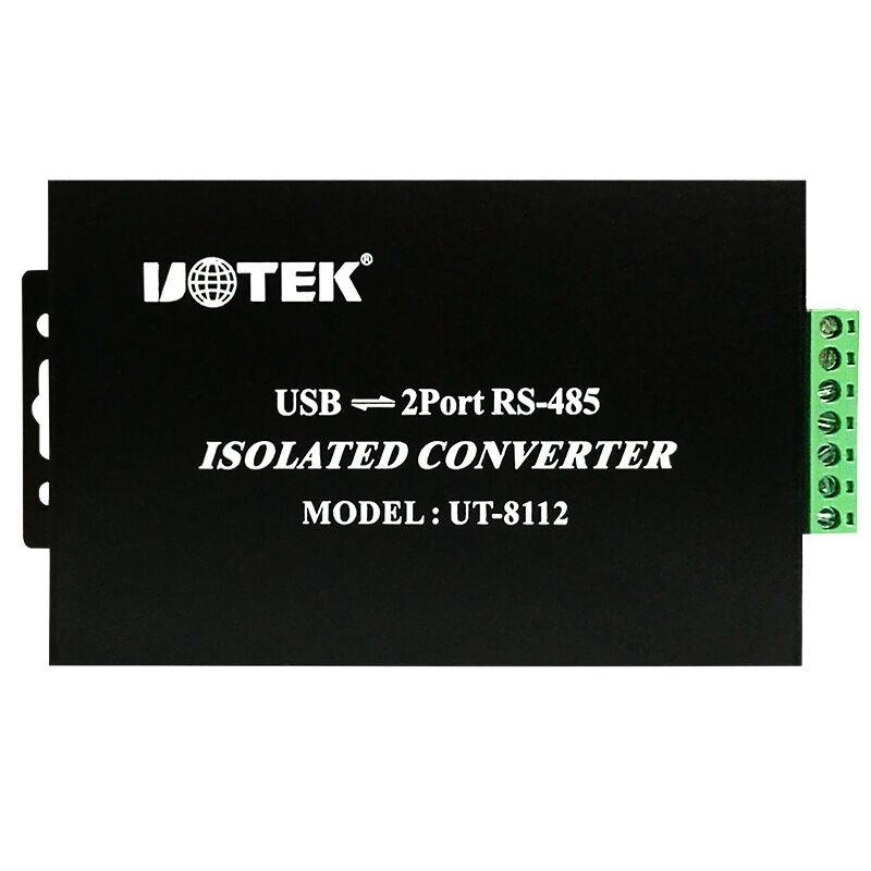 宇泰 USB轉2 Port RS-485 光電隔離型接口轉換器 UT-8112數據傳輸自動收發器