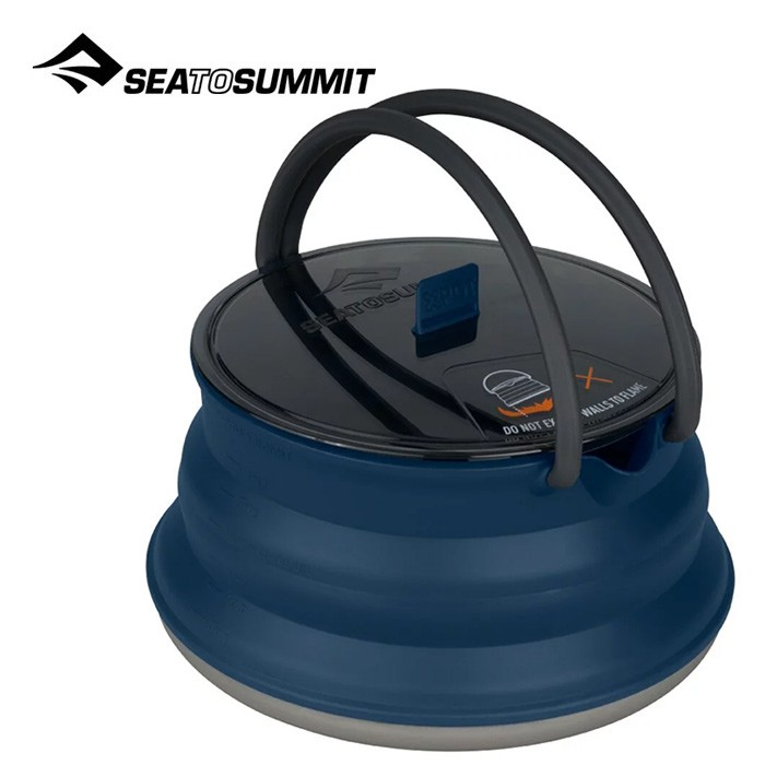 【Sea To Summit 澳洲】X 摺疊茶壺 2.2L 海軍藍 野炊鍋具 戶外鍋具 (AXKETSS2.2)