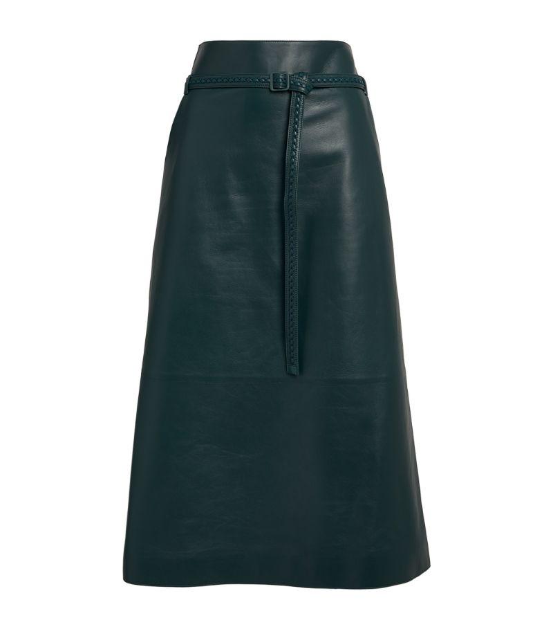 Loro Piana Leather Edith Alabama Skirt