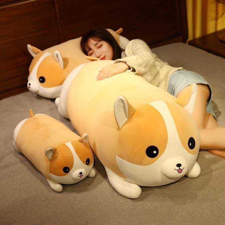 玩偶 可愛柯基毛絨玩具布娃娃玩偶抱枕公仔狗狗床上睡覺女生禮物男生款 摩可美家