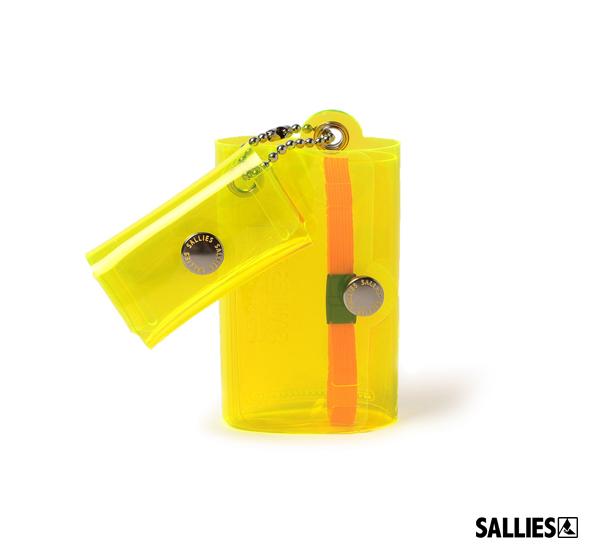 SALLIES Minimal Wallet PocketPal透視感迷你錢包(螢光黃)