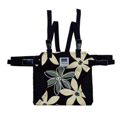日本Eightex-日製攜帶型座椅安全帶(花樣黑)(寶寶餐桌安全/嬰兒餐椅/寶寶餐椅)