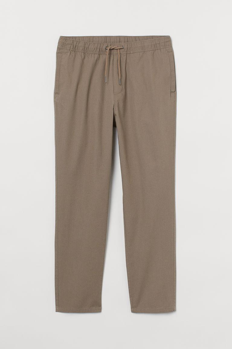 H & M - 棉質卡其褲 - 褐色