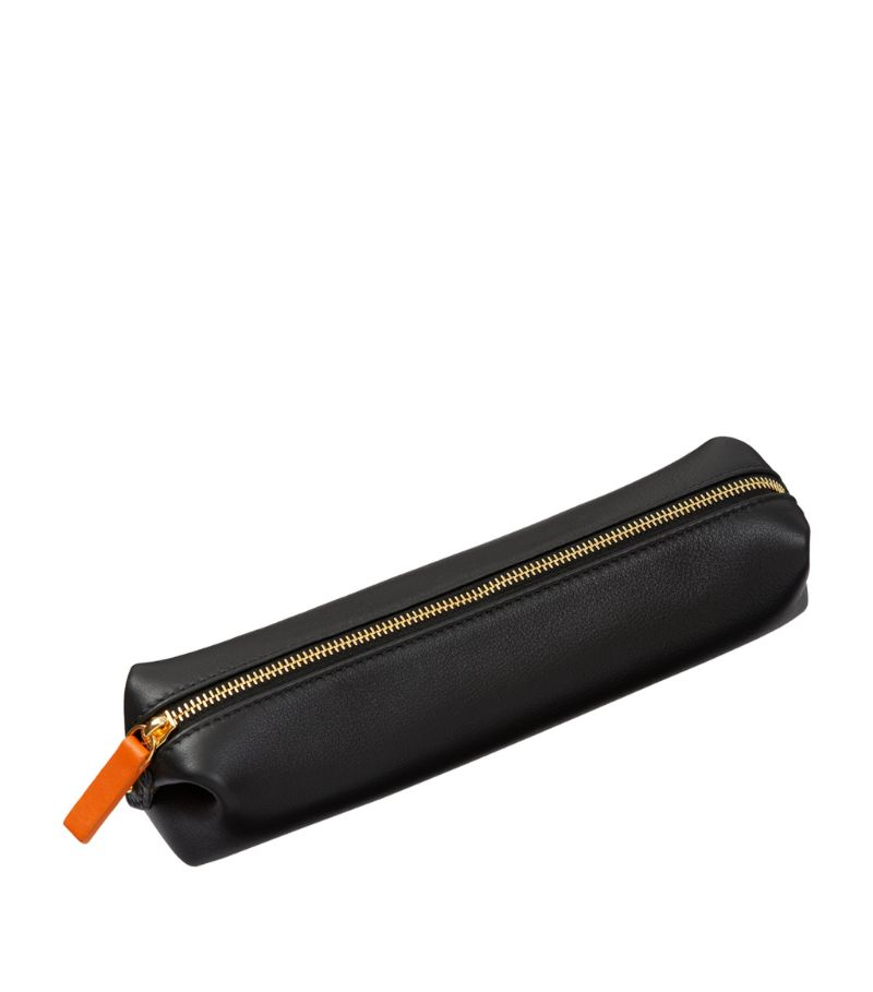 Stow Leather Pencil And Make-Up Case