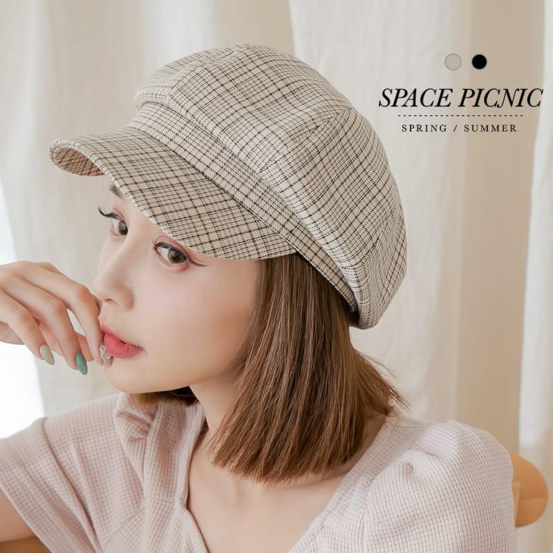Space Picnic|細格紋布面小偷帽(現+預)【C21033010】