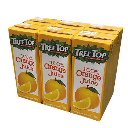 樹頂100%純柳橙汁200MLx6