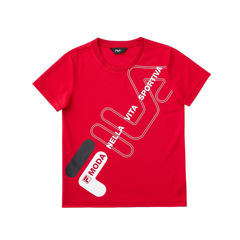 FILA KIDS 吸排上衣-紅 1TEV-4906-RD