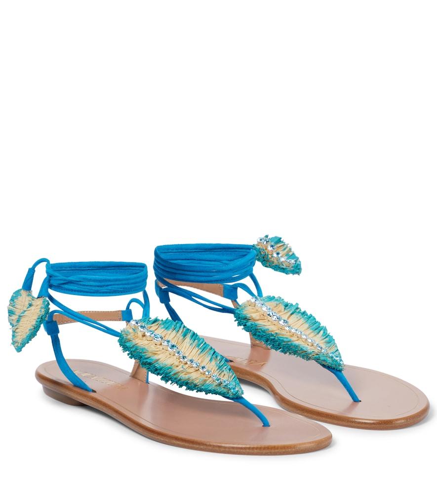Isla embellished suede sandals