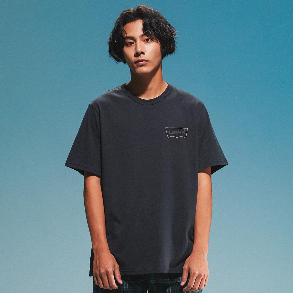 Levis 男款 短袖T恤 / 滑版系列 / 簡約Logo / 黑-人氣新品