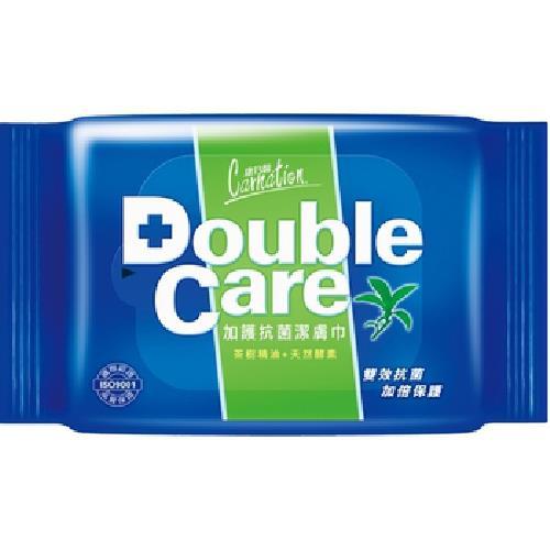 康乃馨 Double Care抗菌濕巾(20片x2包/組) [大買家]