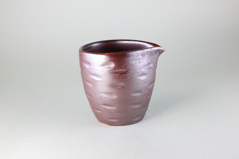 切削斑紋手工茶海 鶯歌名家葉敏祥柴燒作品