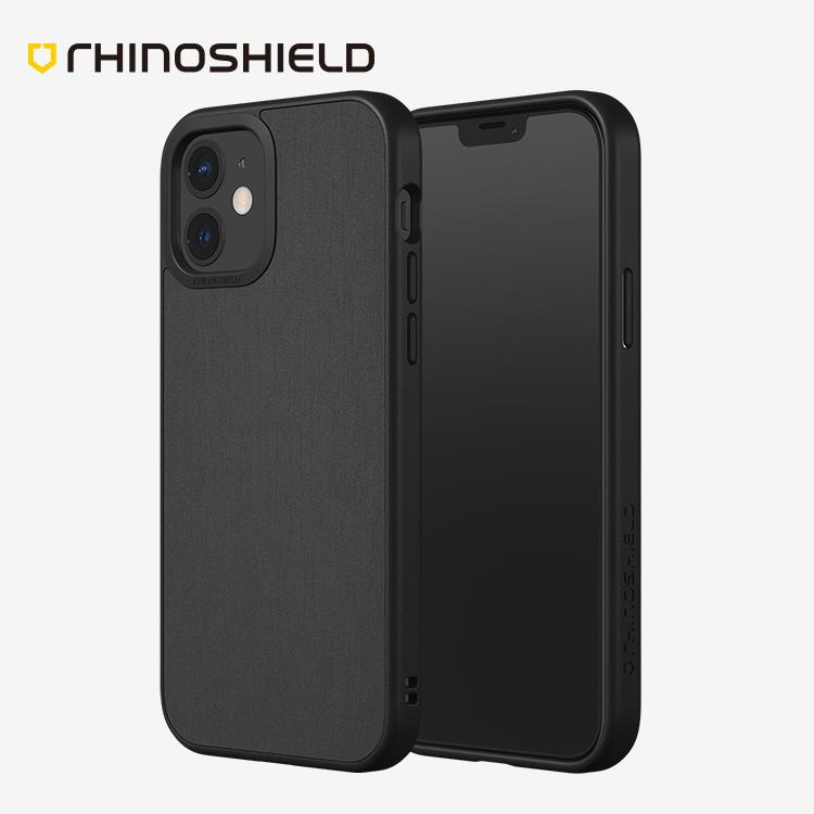 IPHONE 12 犀牛盾SolidSuit髮絲紋防摔背蓋手機殼【RSSSA60】