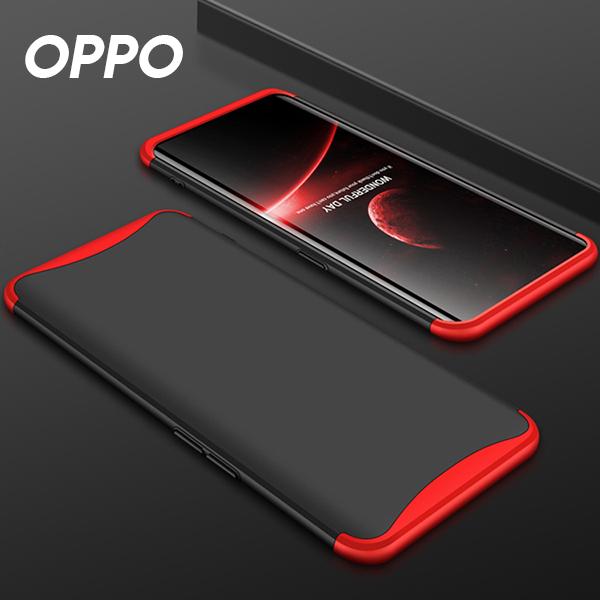 (現貨)OPPO R17/FIND X/R15/R11S系列 時尚三段式拼接邊框全包手機殼(九色)【RCOPPO143】