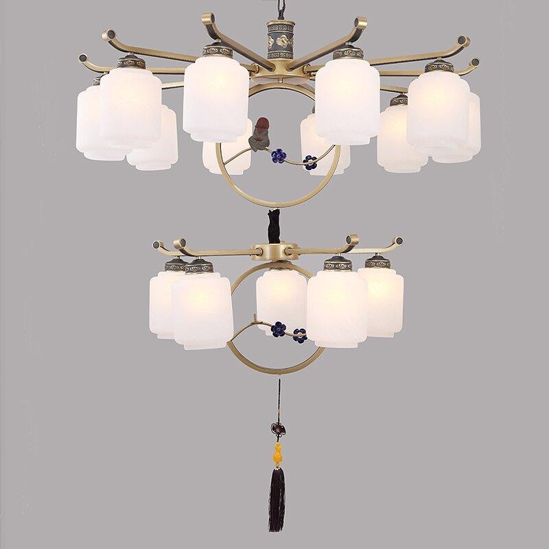 新中式吊燈中國風客廳復古創意大廳文藝仿古餐廳工程別墅臥室吊燈