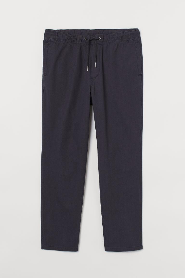 H & M - 棉質卡其褲 - 黑色