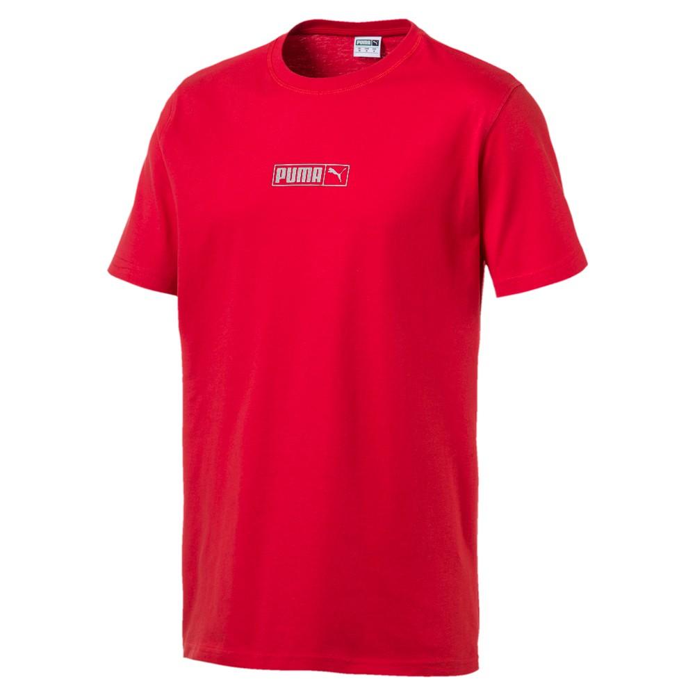 Puma Graphic Logo N.2 男裝 短袖 休閒 素T 基本 紅 歐規【運動世界】57872111