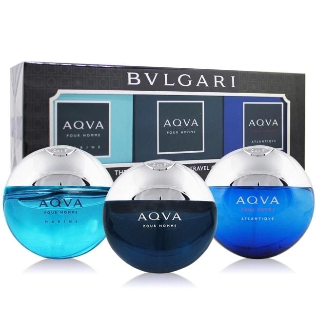 BVLGARI 寶格麗 水能量男性隨行香水禮盒(15mlX3)-國際航空版