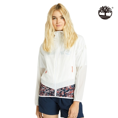 Timberland 女款點狀印花拼接可收納外套|A2CTF